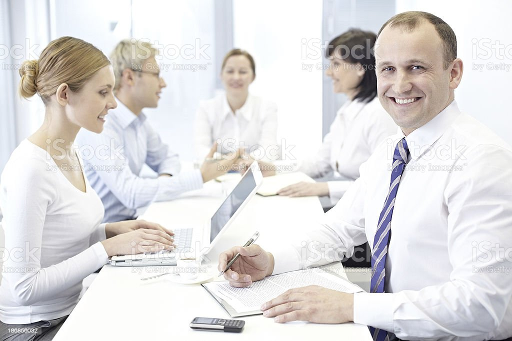 Employee at work royalty-free stock photo