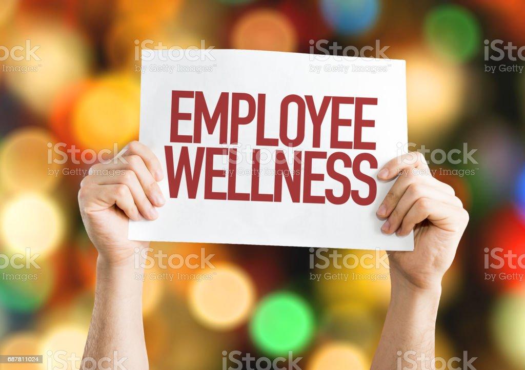 Employee Benefits placard stock photo