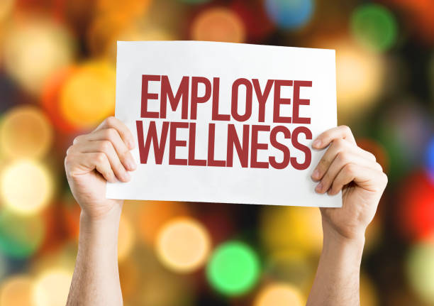Employee Benefits placard Employee Benefits placard with bokeh background mental wellbeing stock pictures, royalty-free photos & images