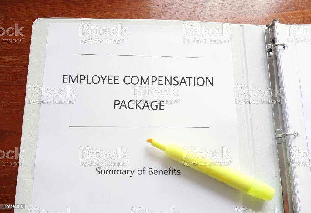 Employee Compensation Package stock photo