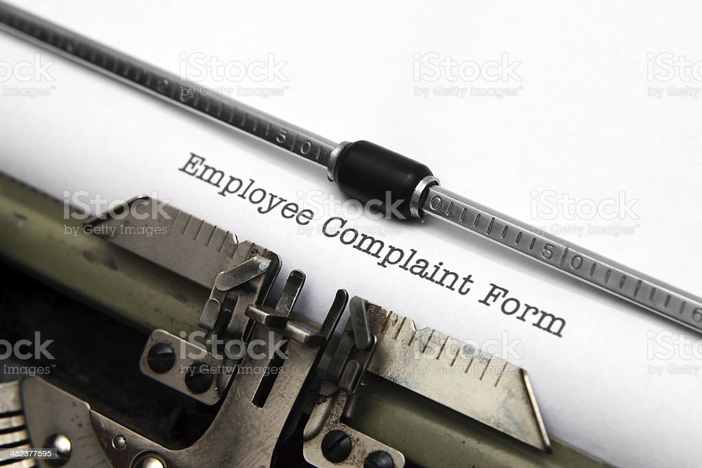 Employee complaint form royalty-free stock photo