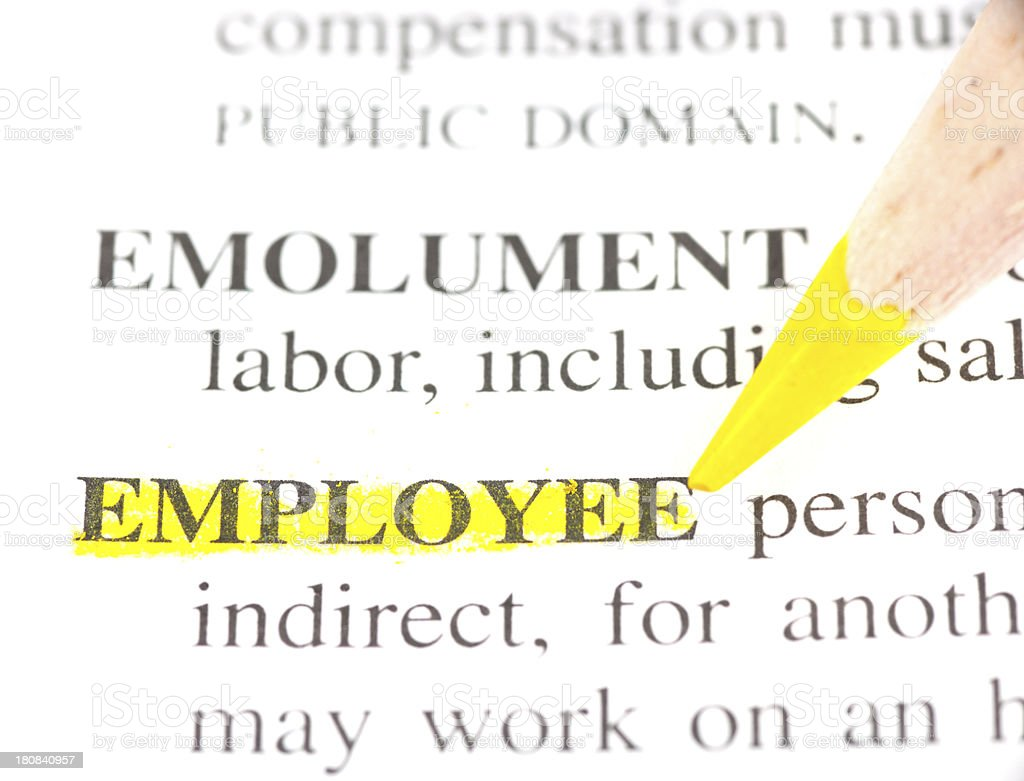 employee definition marked in dictionary stock photo
