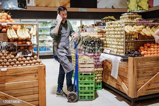 Shopping in modern supermarket