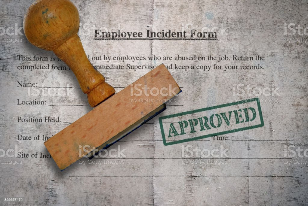 Employee incident form stock photo