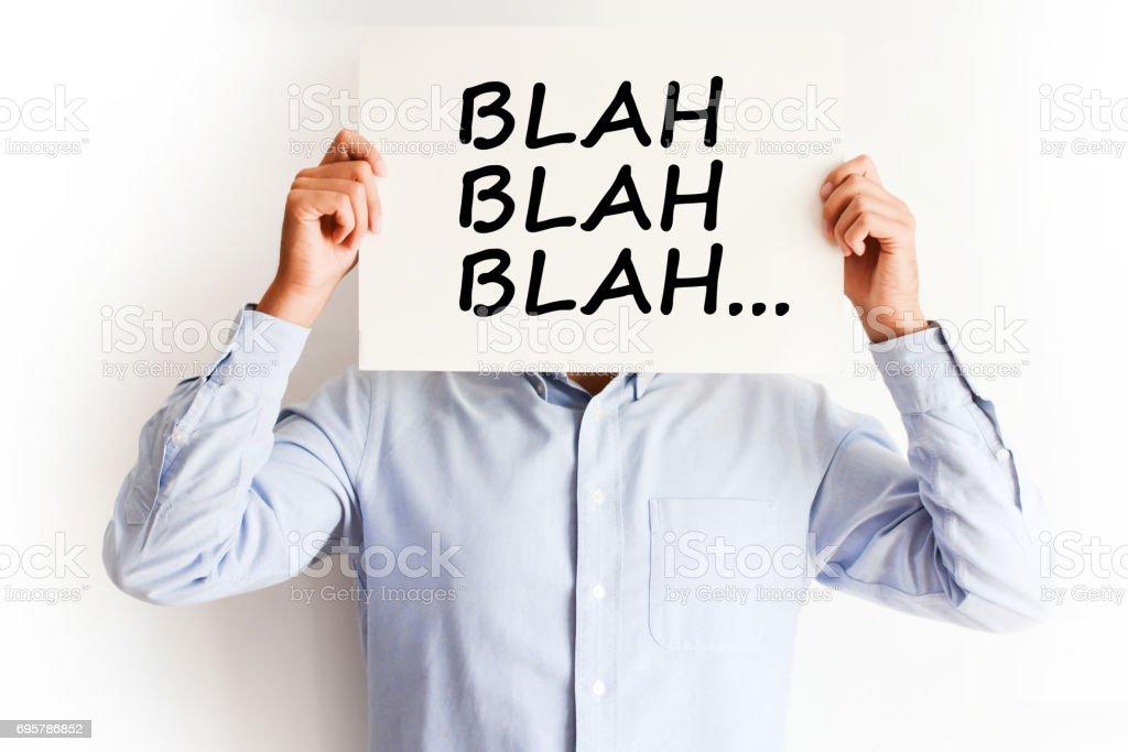Employee not listening, blah blah concept stock photo