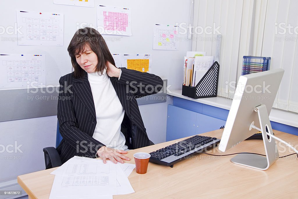 Employee of office royalty-free stock photo