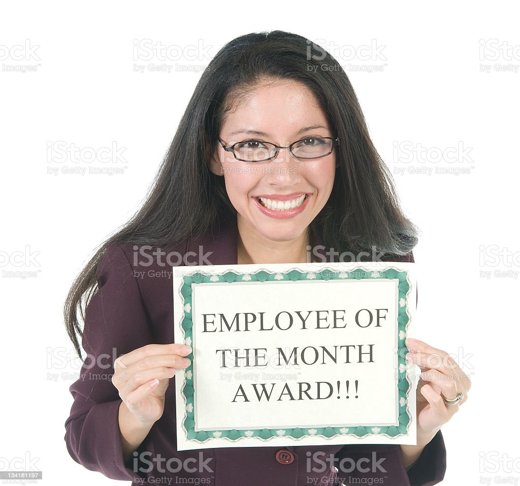 Employee of the Month stock photo