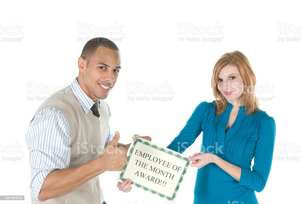 Employee of the Month Presentation stock photo
