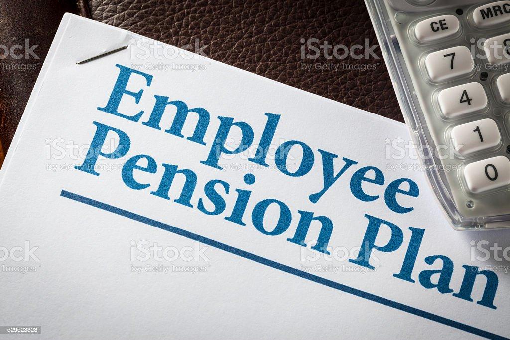 Employee Pension Plan stock photo
