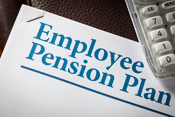 Employee Pension Plan stock photo