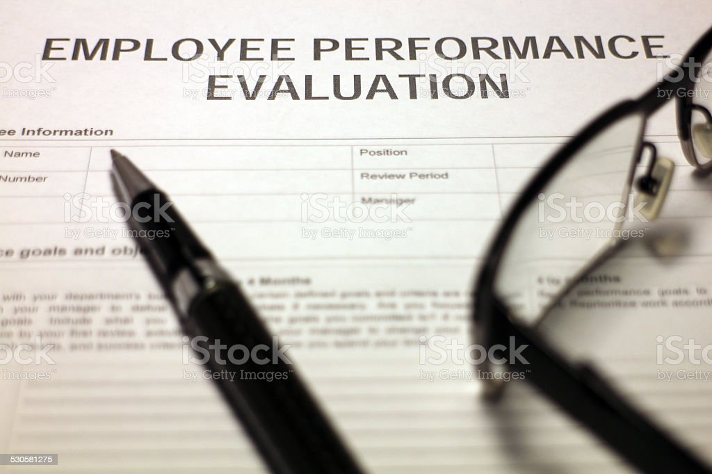 Employee Performance Document stock photo