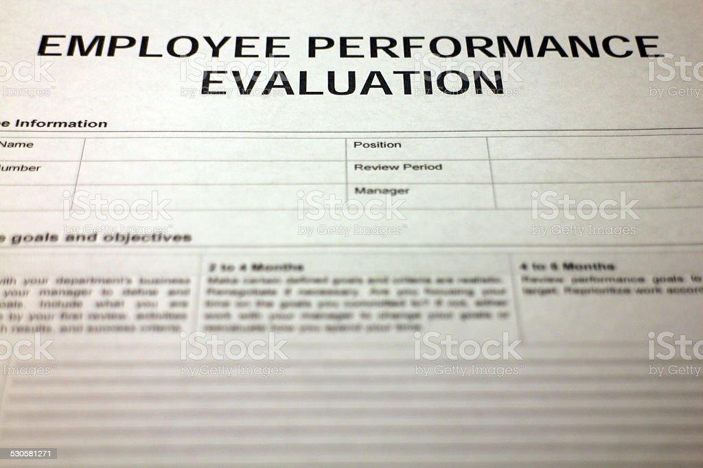 Leistung Des Angestellten Bewertungsformular Stock-Fotografie und ...