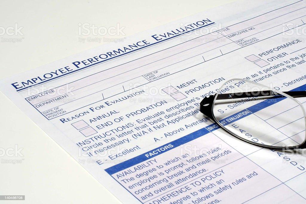 Employee Performance Evaluation royalty-free stock photo