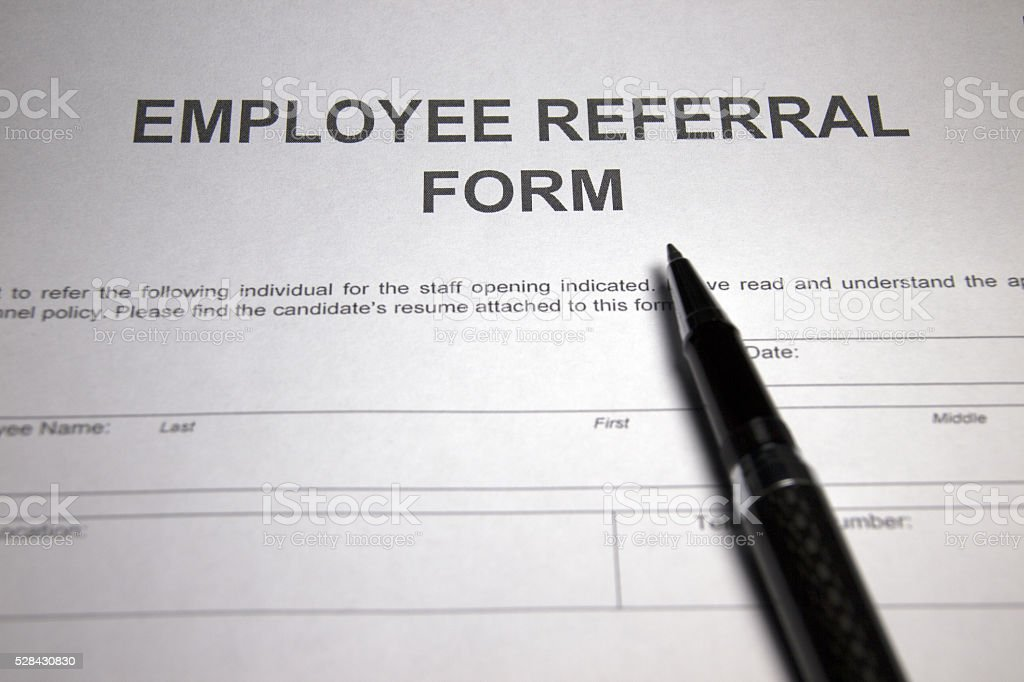 Employee Referral Form Stock Photo  More Pictures Of Application