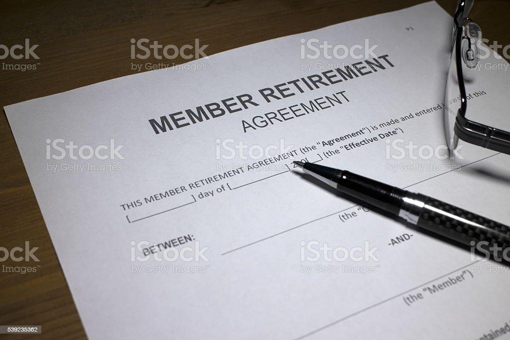 Contrato de reforma dos funcionários foto royalty-free