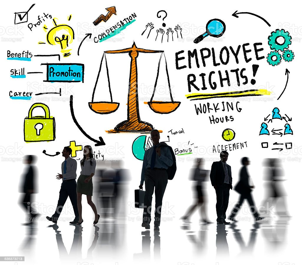 Employee Rights Employment Equality Job Business Commuter Concep stock photo
