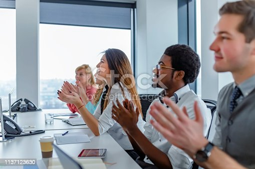 858148040 istock photo Employee satisfaction leads to a positive ambience at the workplace 1137123630