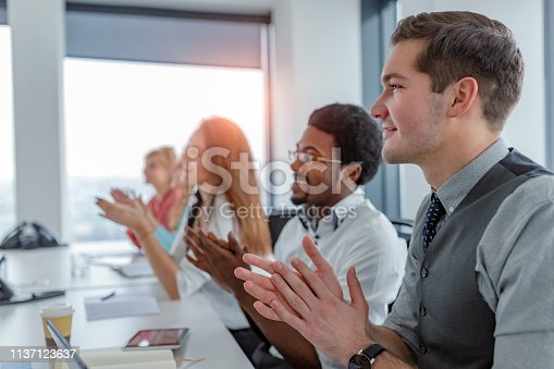 858148040 istock photo Employee satisfaction leads to a positive ambience at the workplace 1137123637