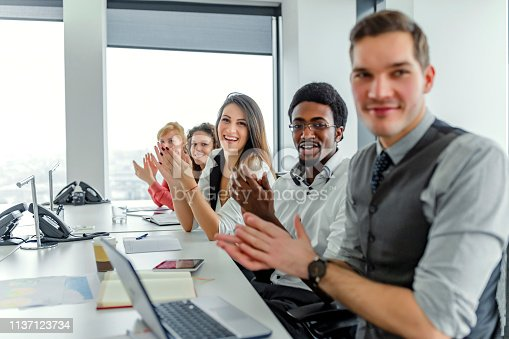 858148040 istock photo Employee satisfaction leads to a positive ambience at the workplace 1137123734