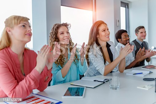 858148040 istock photo Employee satisfaction leads to a positive ambience at the workplace 1137123776