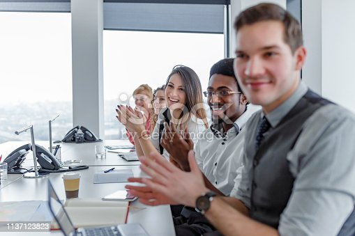 858148040 istock photo Employee satisfaction leads to a positive ambience at the workplace 1137123823