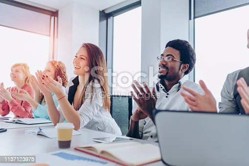858148040 istock photo Employee satisfaction leads to a positive ambience at the workplace 1137123975