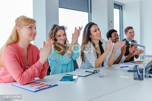 858148040 istock photo Employee satisfaction leads to a positive ambience at the workplace 1137124033