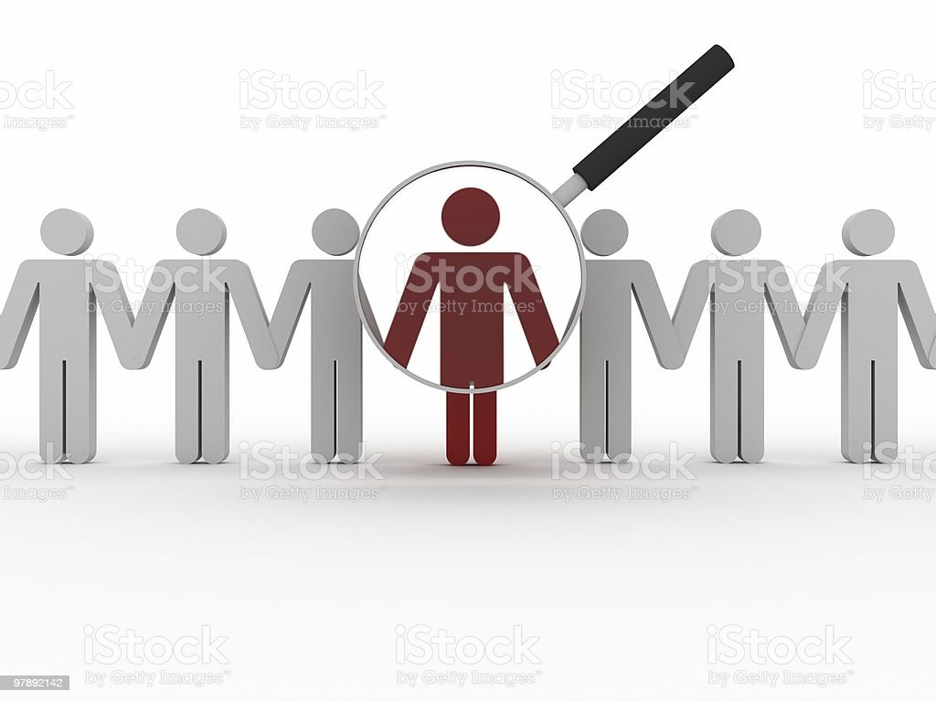 Employee Search royalty-free stock photo