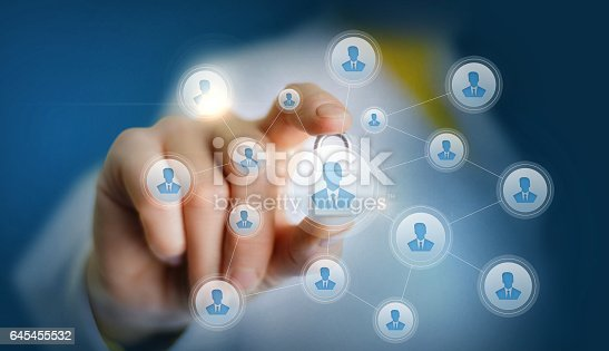 1170082011 istock photo Employee sets the protection on the network in the form of a castle. 645455532