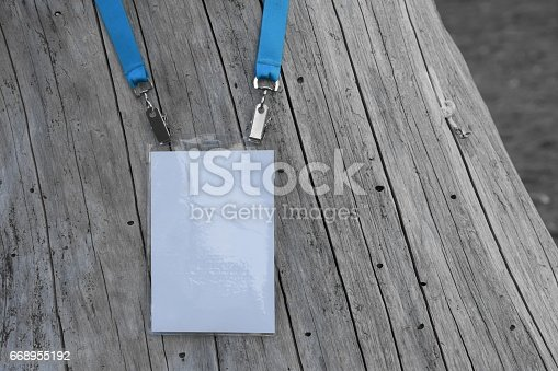 668954740istockphoto Employee tag hanging on a tree 668955192