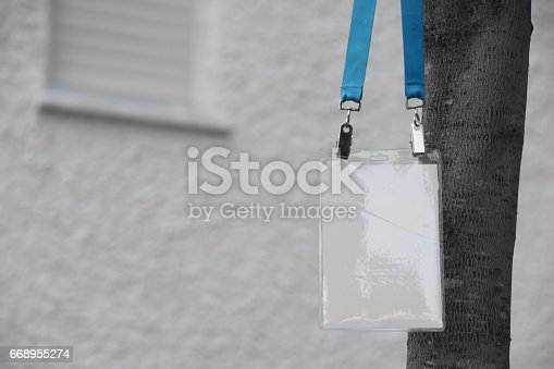 668954740istockphoto Employee tag hanging on a tree 668955274