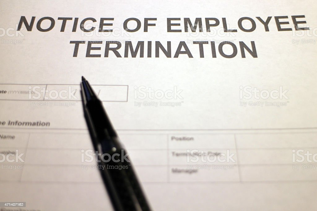 Employee Termination stock photo