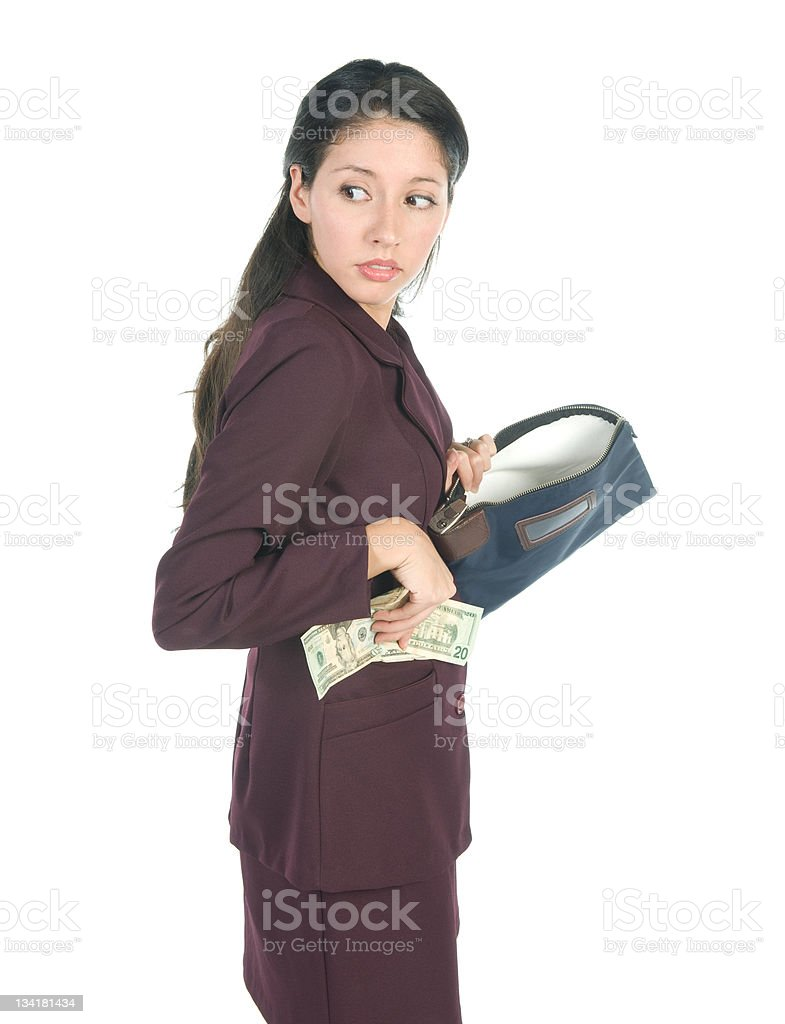 Employee Theft stock photo