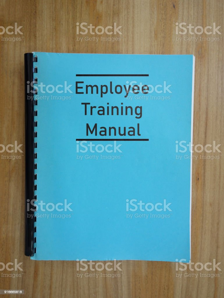 Employee Trainng Manual stock photo