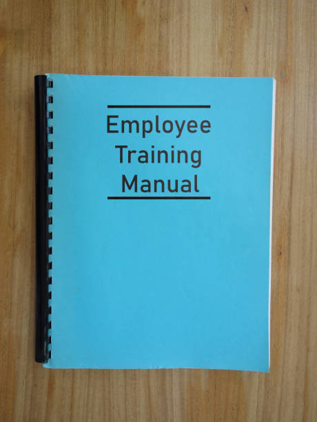 Employee Trainng Manual stock photo