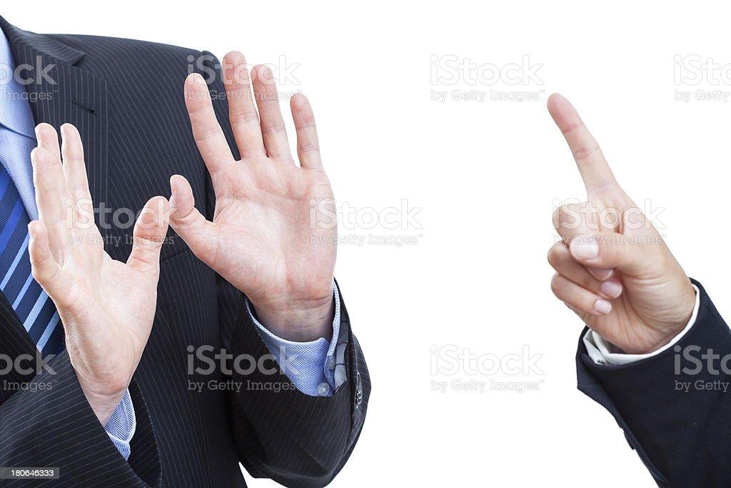 Employee's explanation royalty-free stock photo
