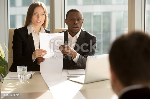 istock Employers recruiters shocked by great career achievements of job applicant 695760172