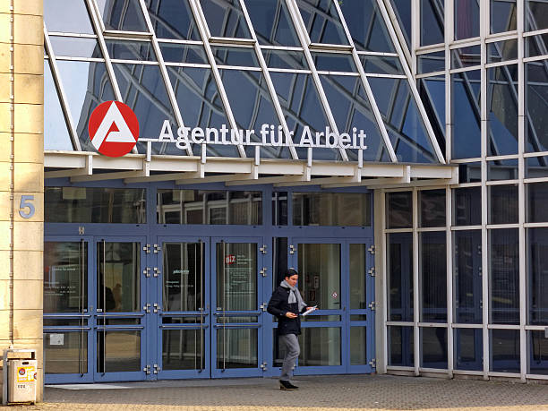 Agentur fuer Arbeit - employment center stock photo
