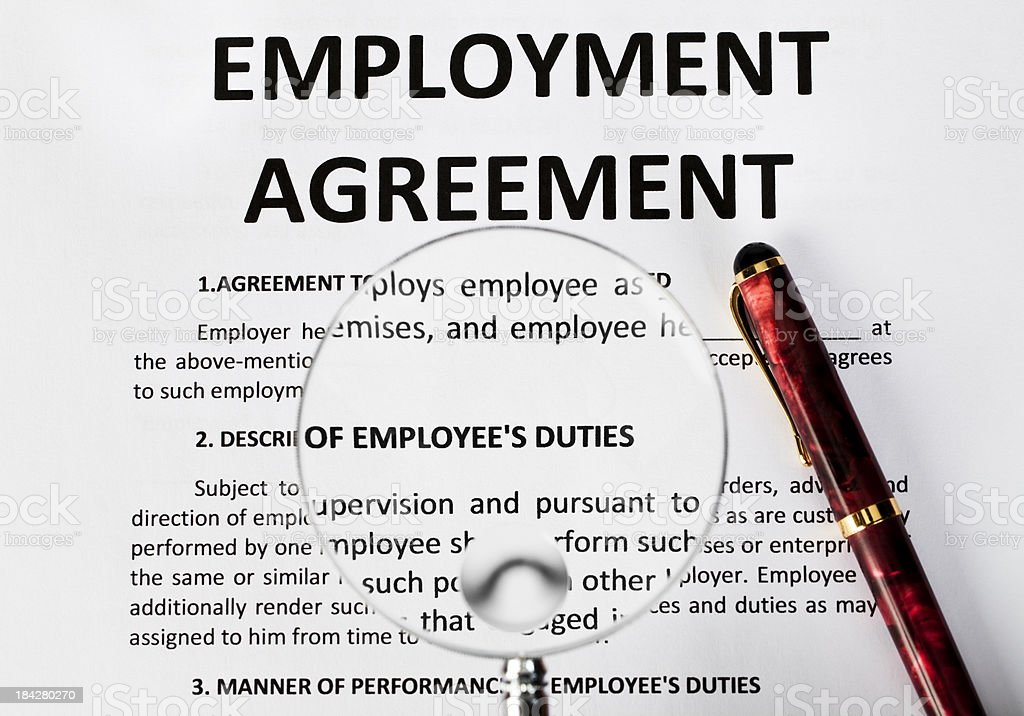 Employment agreement royalty-free stock photo