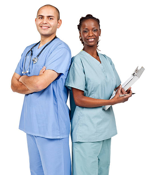 Employment & Jobs: Diverse Nurses (Isolated) stock photo