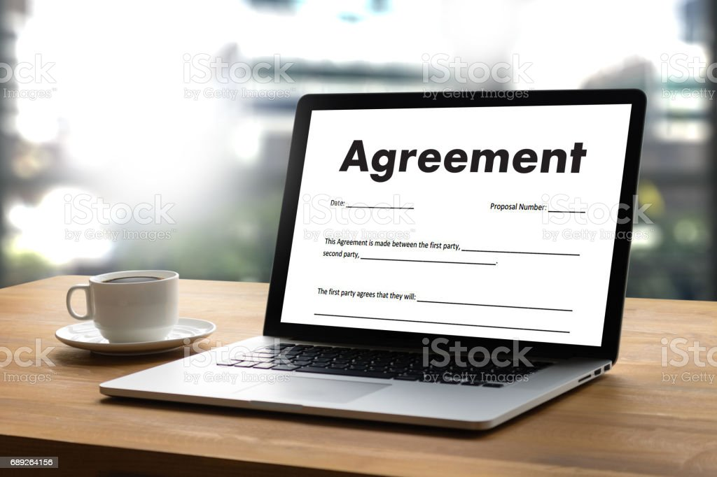 Employment Application Agreement Form ,application for employment stock photo