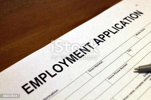 istock Employment Application Form 485428441