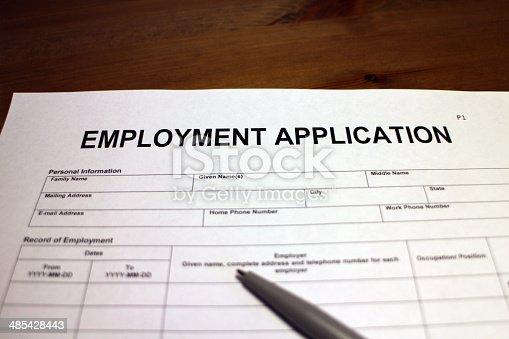 istock Employment Application Form 485428443