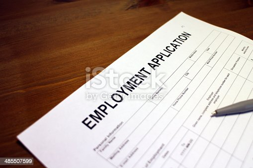 istock Employment Application Form 485507599