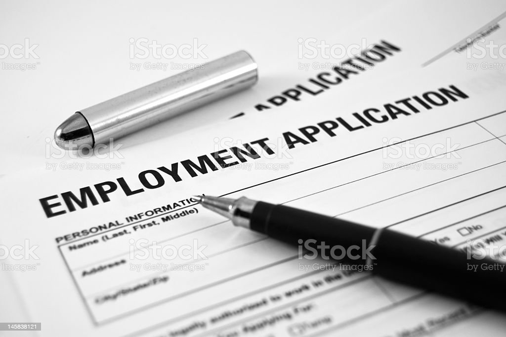 Employment Application royalty-free stock photo