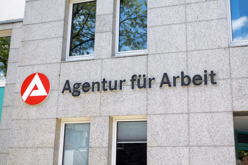 Ratingen, Germany - May, 9th 2013: Employment center of Bundesagentur fAr Arbeit in city Ratingen, North Rhine Westfalia.
