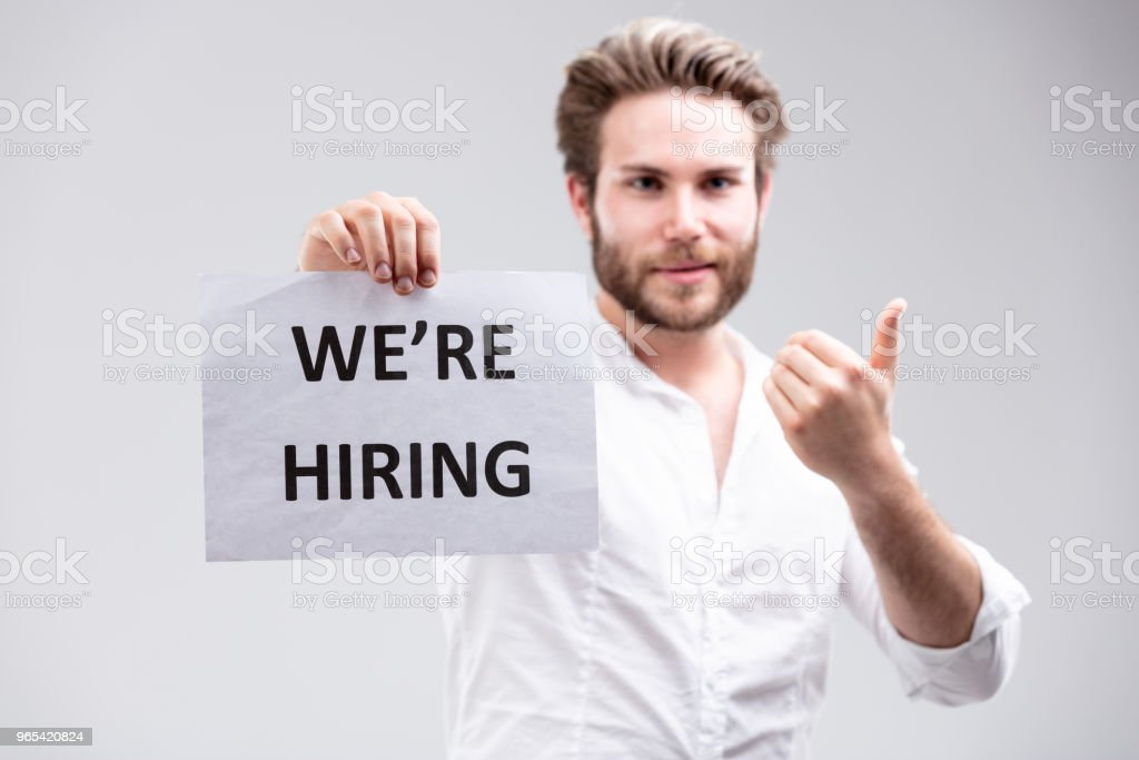 Employment concept - We Are Hiring royalty-free stock photo