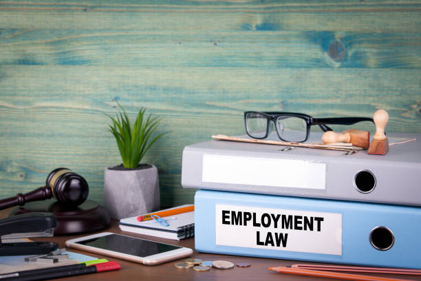 employment law concept. Binders on desk in the office. Business background employment law concept. Binders on desk in the office. Business background employment and labor stock pictures, royalty-free photos & images