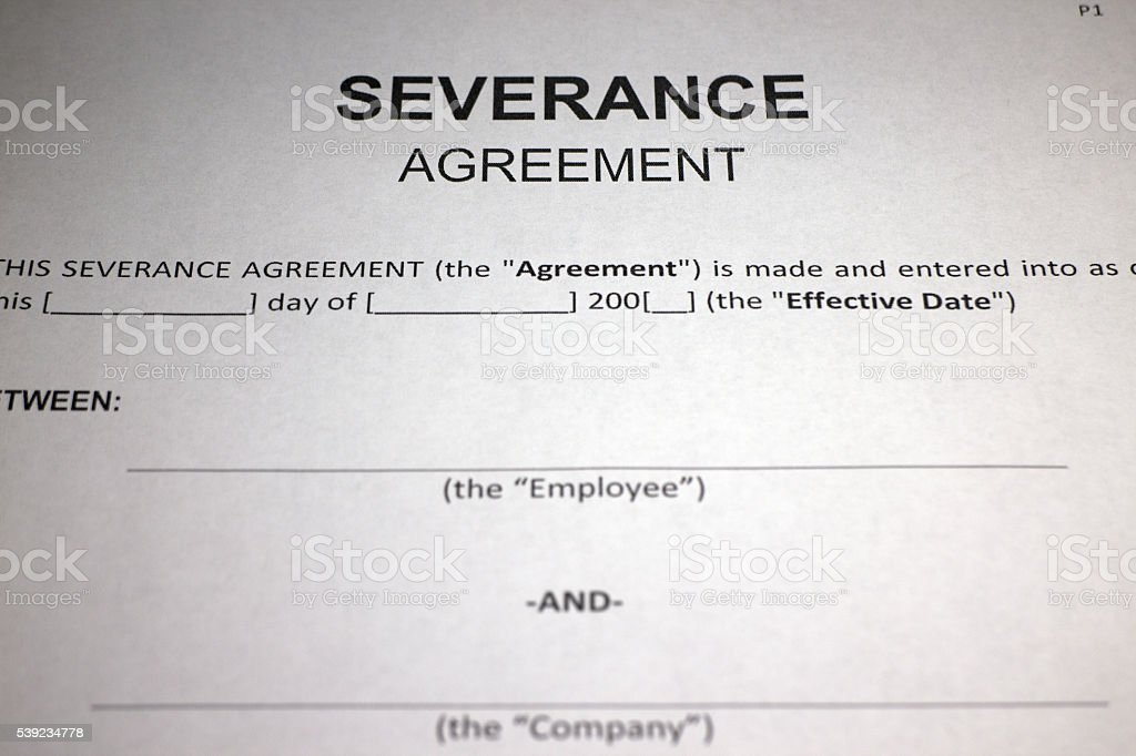 Emprego acordo de demissões foto royalty-free