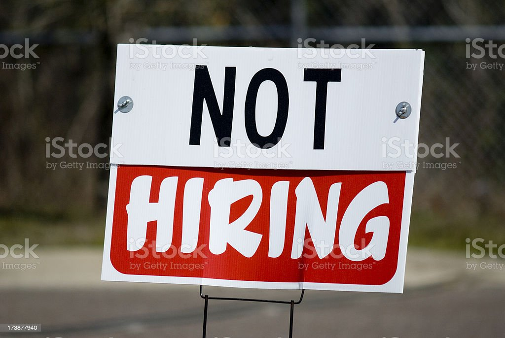 Employment Unemployment road sign stock photo
